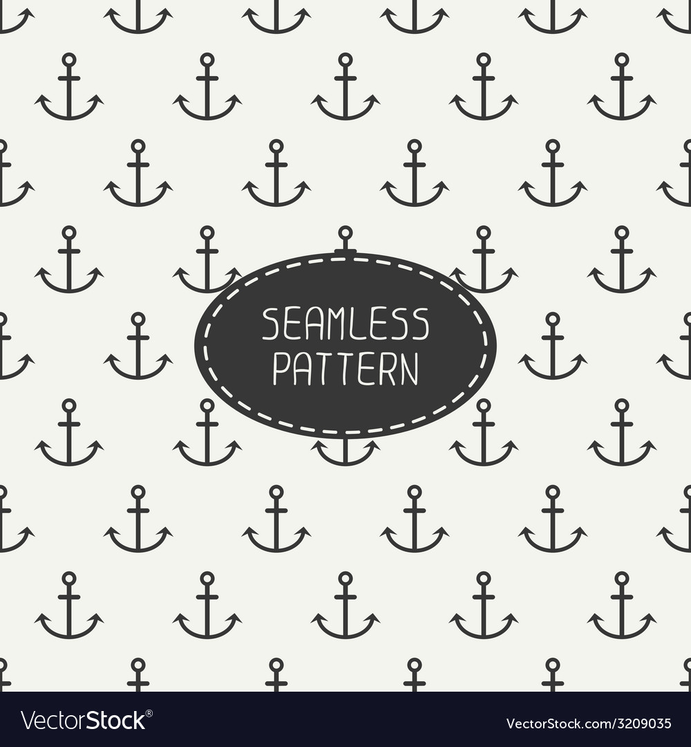 Seamless retro pattern with hipster anchor for vector | Price: 1 Credit (USD $1)
