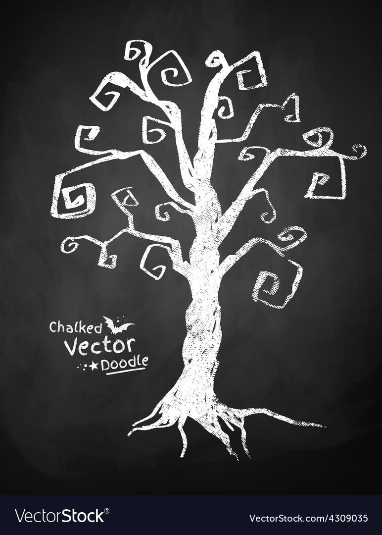 Spooky tree vector | Price: 1 Credit (USD $1)