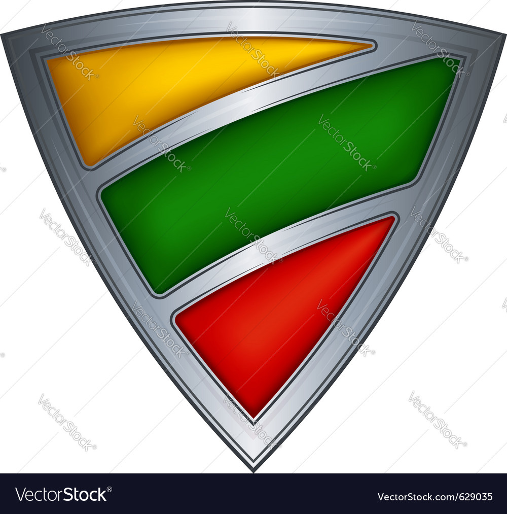 Steel shield with flag lithuania vector | Price: 1 Credit (USD $1)