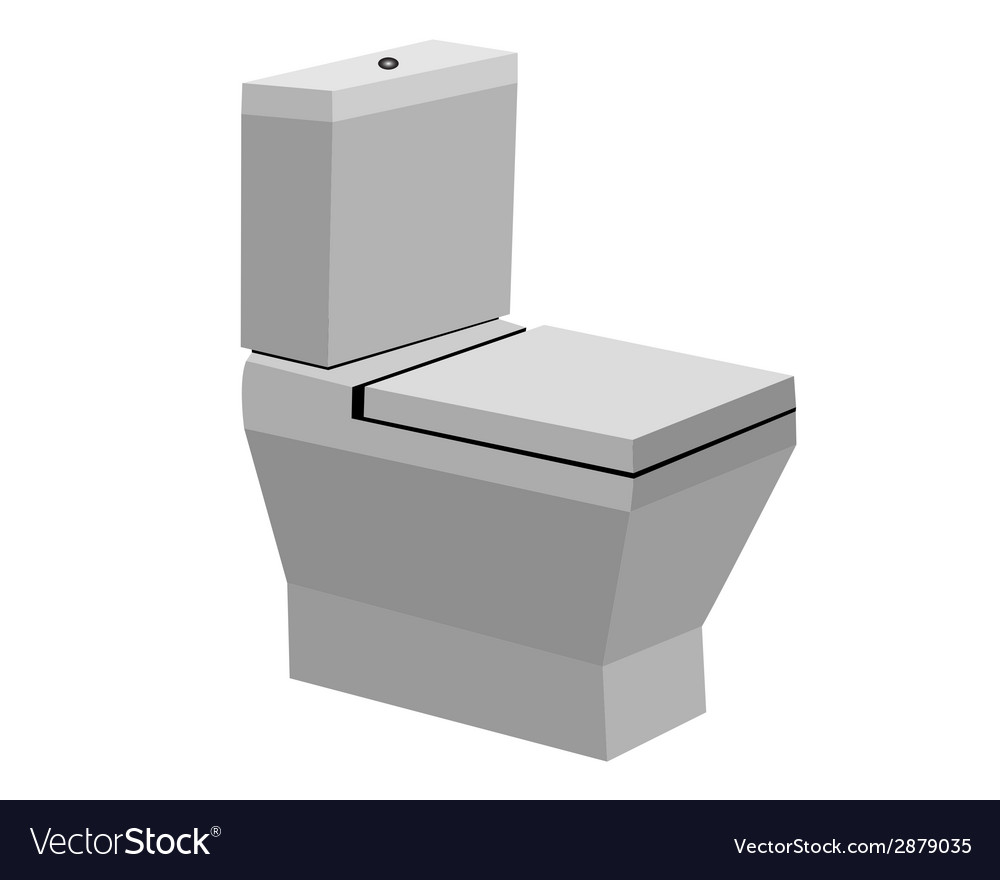 Toilet bowl vector | Price: 1 Credit (USD $1)