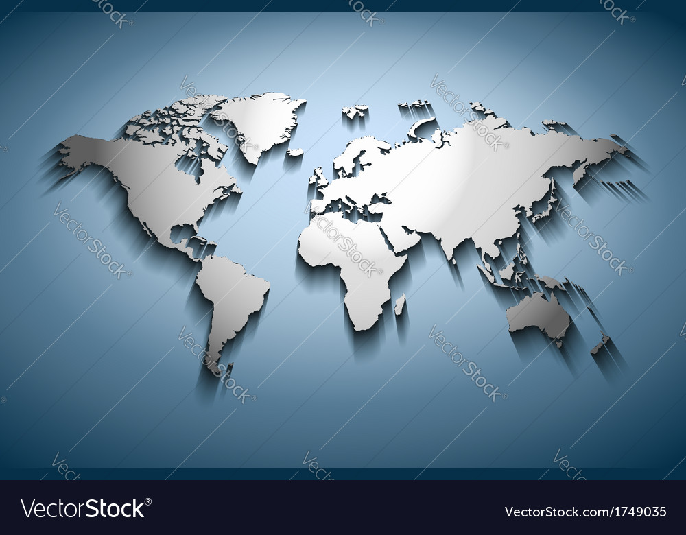 World map embossed vector | Price: 1 Credit (USD $1)