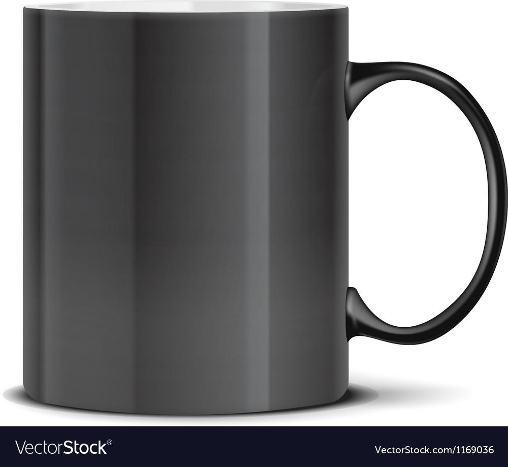 Black mug on white vector | Price: 1 Credit (USD $1)