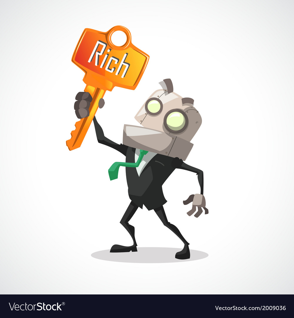 Businessman key rich vector | Price: 1 Credit (USD $1)