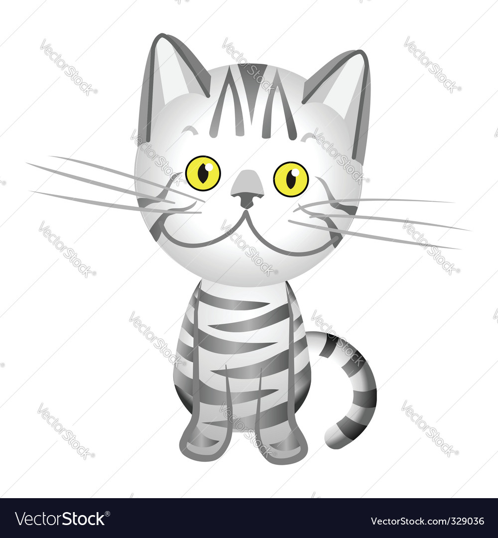 Cartoon tabby cat vector | Price: 1 Credit (USD $1)