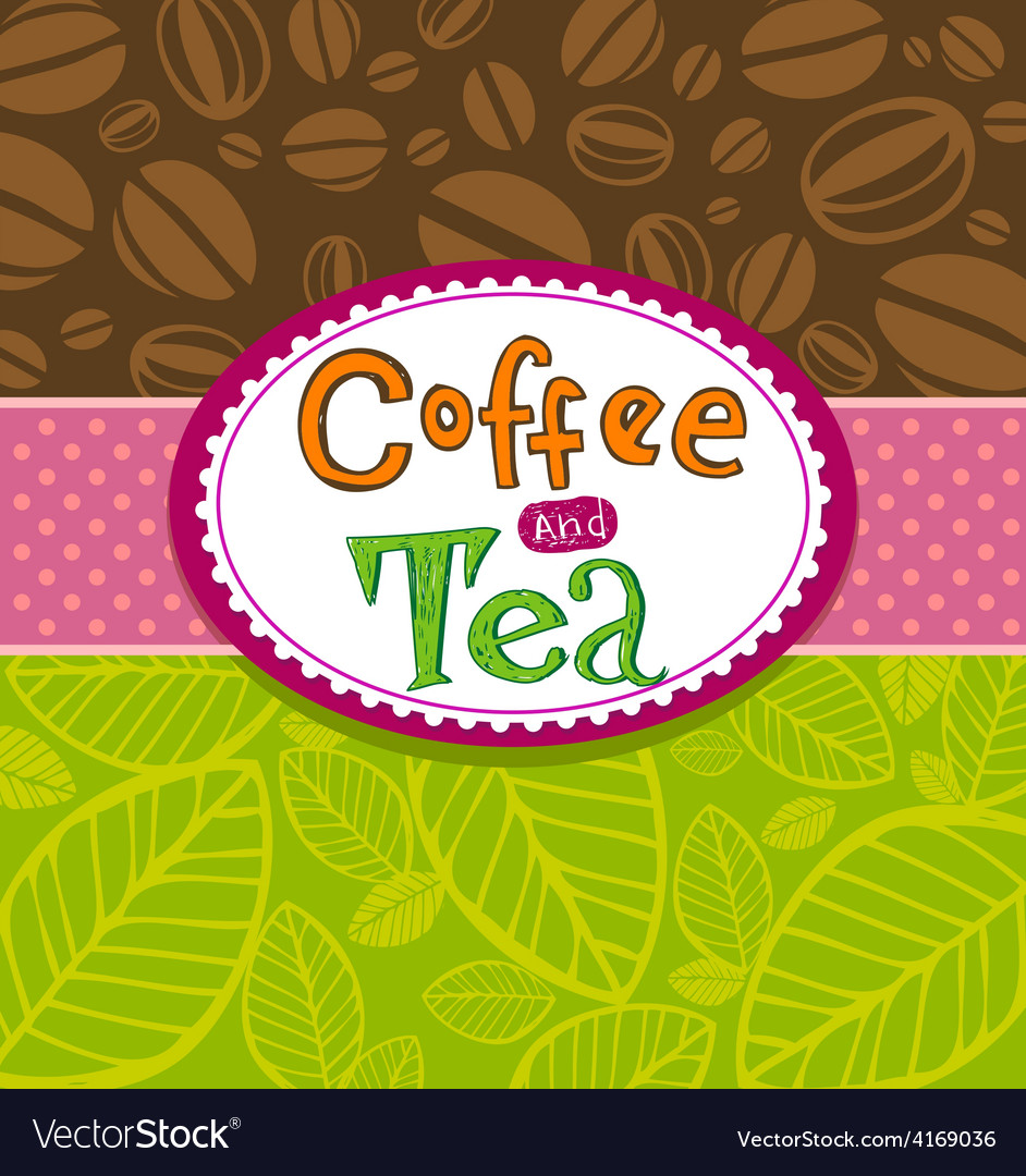 Coffee theme background vector | Price: 1 Credit (USD $1)