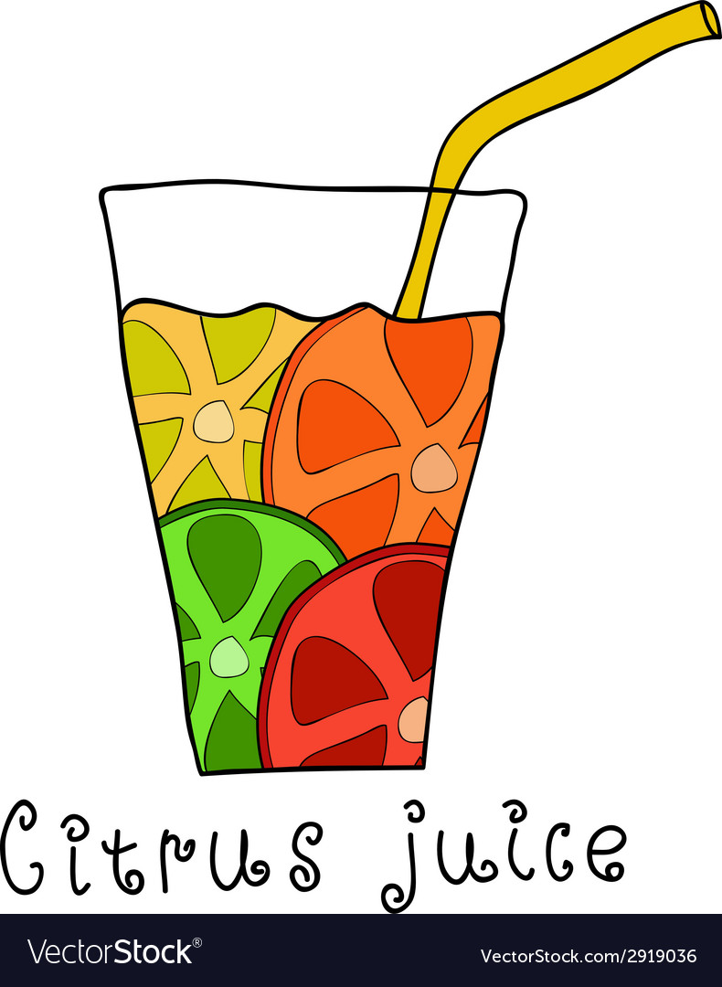 Doodle citrus juice vector | Price: 1 Credit (USD $1)
