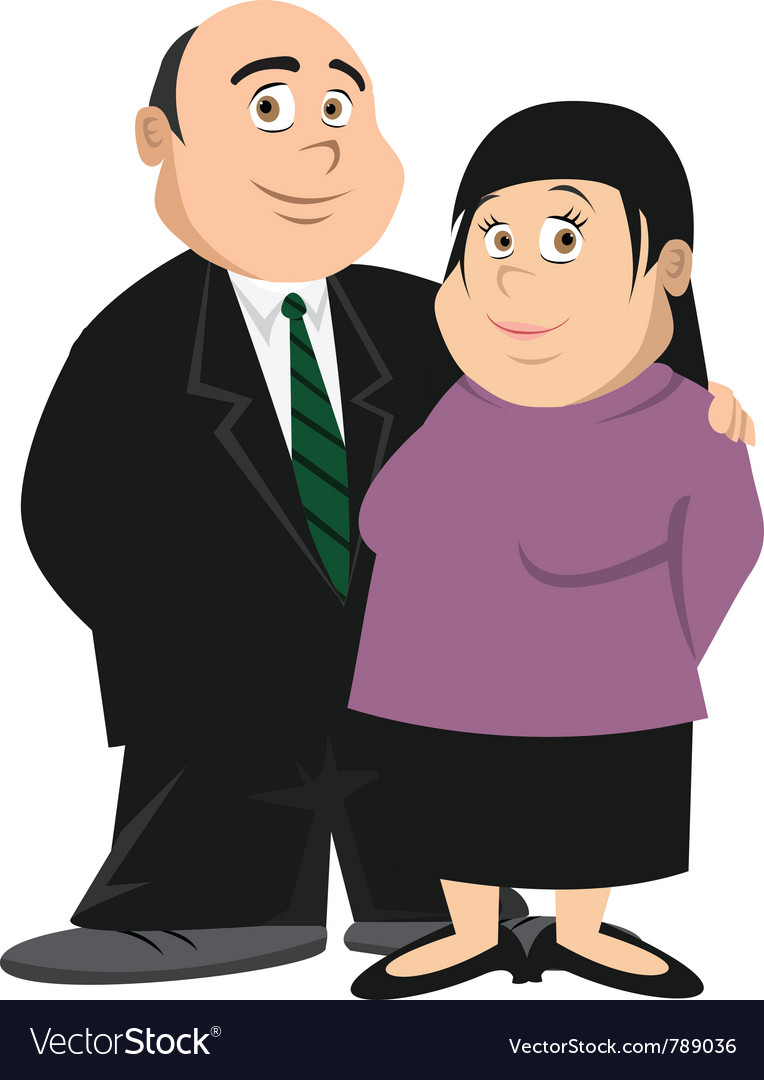 Fat couple vector | Price: 3 Credit (USD $3)