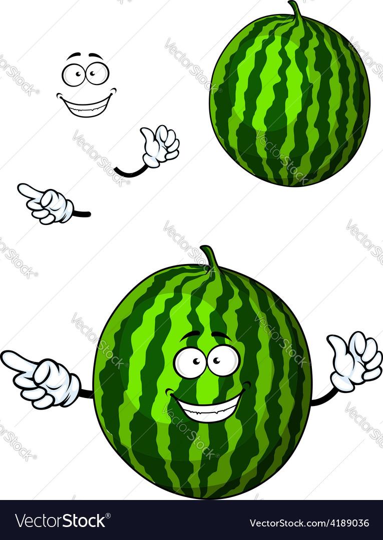 Fun happy cartoon watermelon character vector | Price: 1 Credit (USD $1)