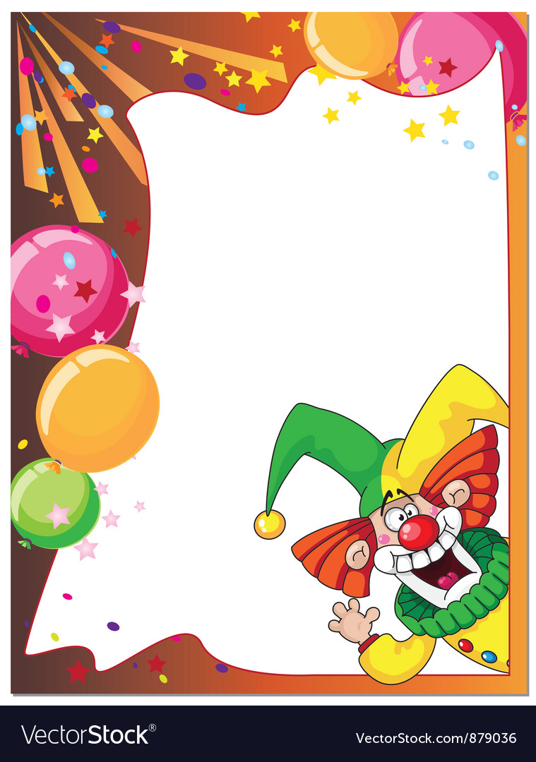 Funny clown card vector | Price: 3 Credit (USD $3)