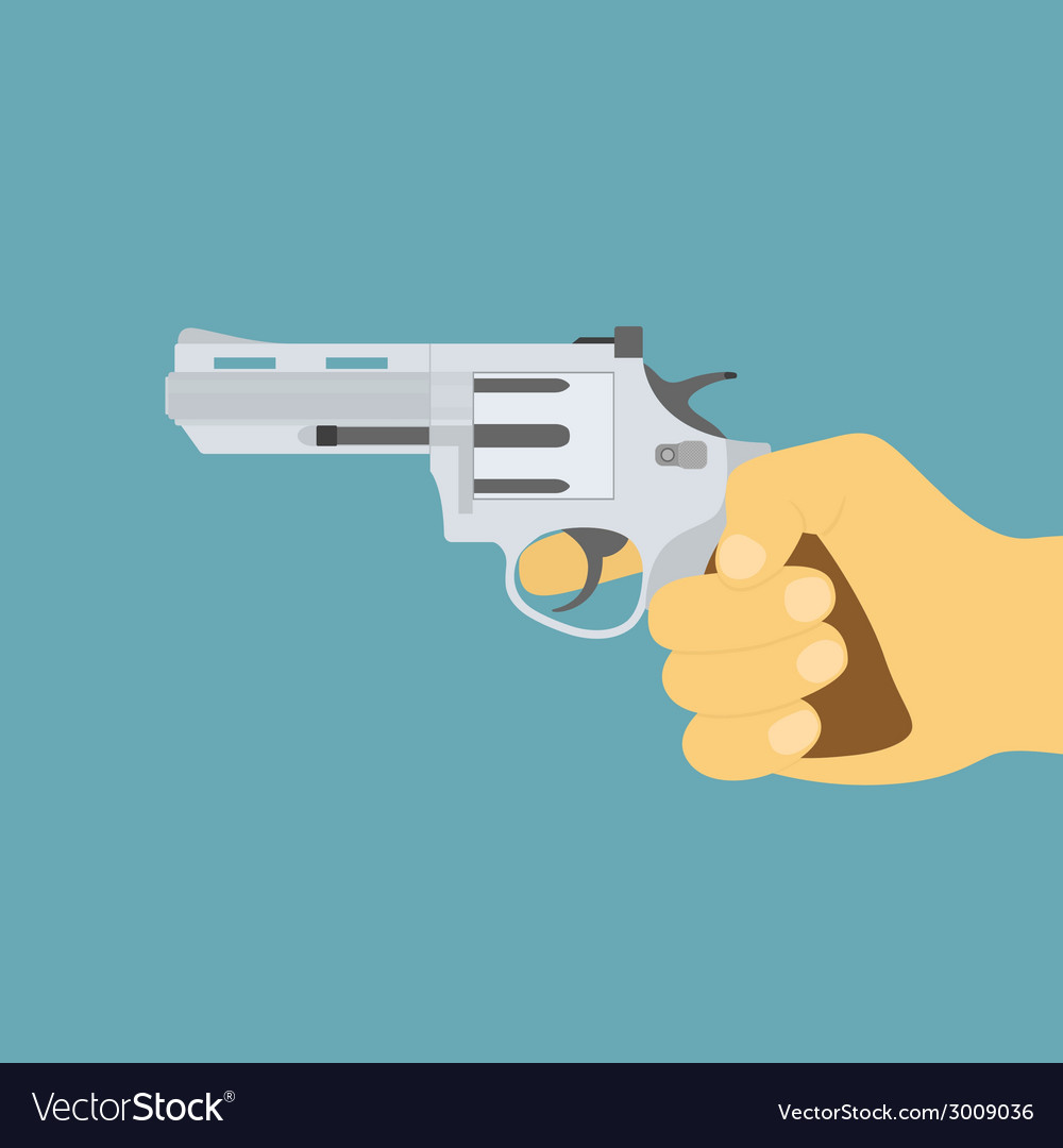 Hand with gun vector | Price: 1 Credit (USD $1)
