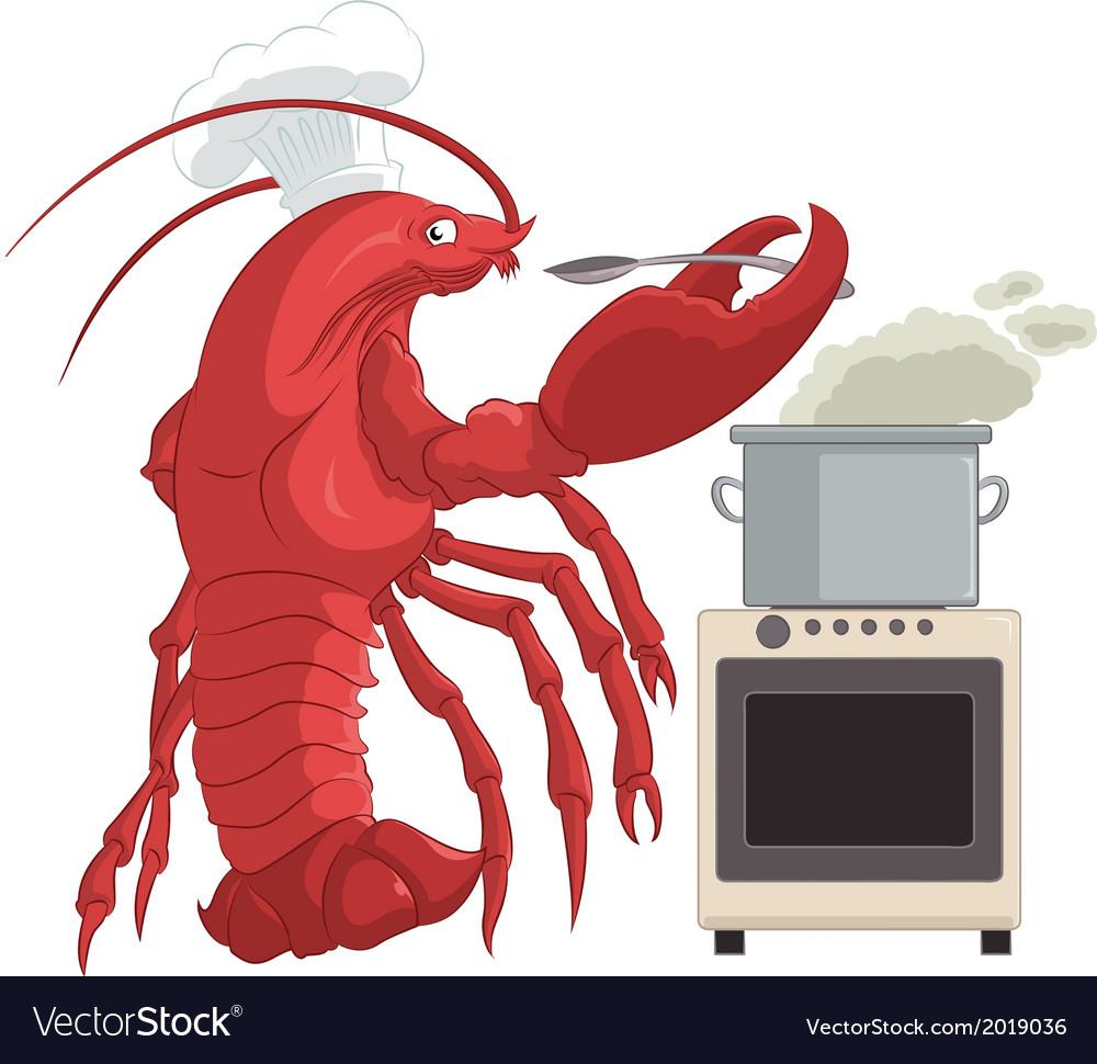 Lobster cooker vector