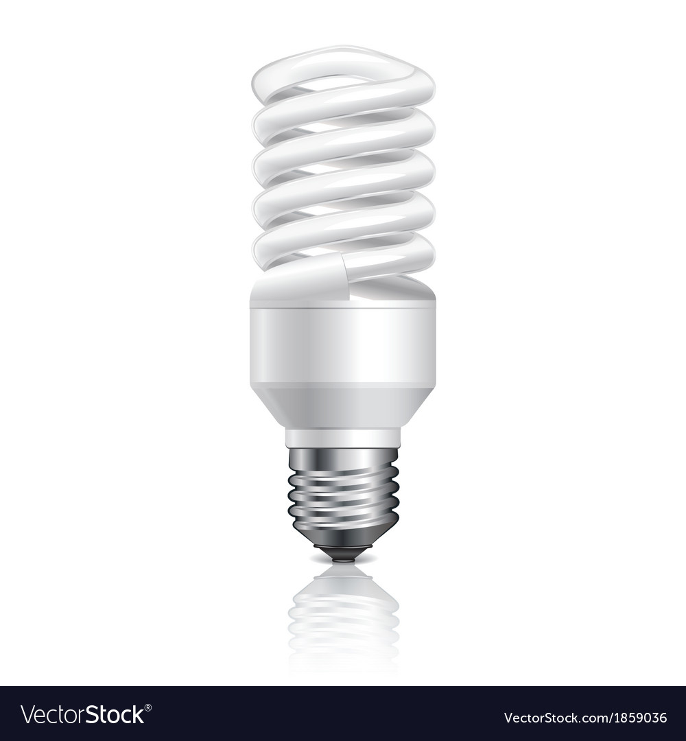 Object energy saving lamp vector | Price: 1 Credit (USD $1)