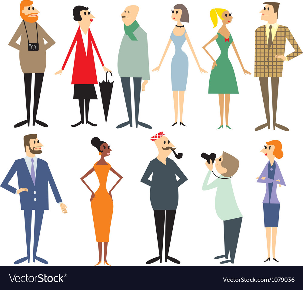 People characters vector | Price: 1 Credit (USD $1)