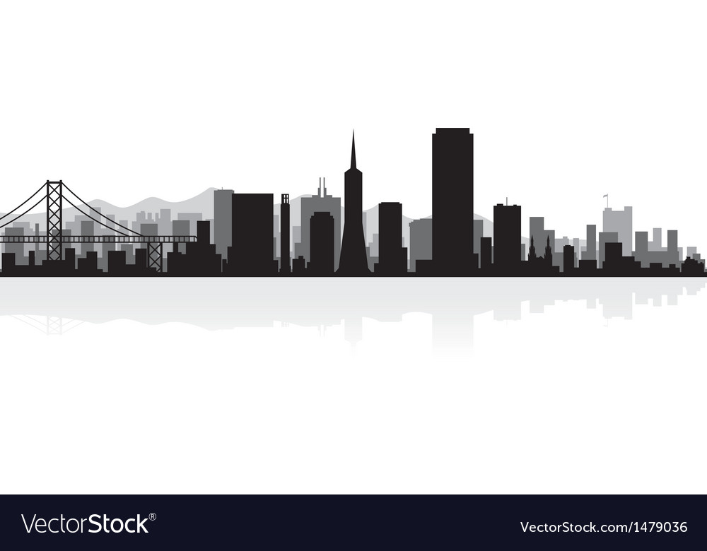 San francisco usa city skyline silhouette vector | Price: 1 Credit (USD $1)