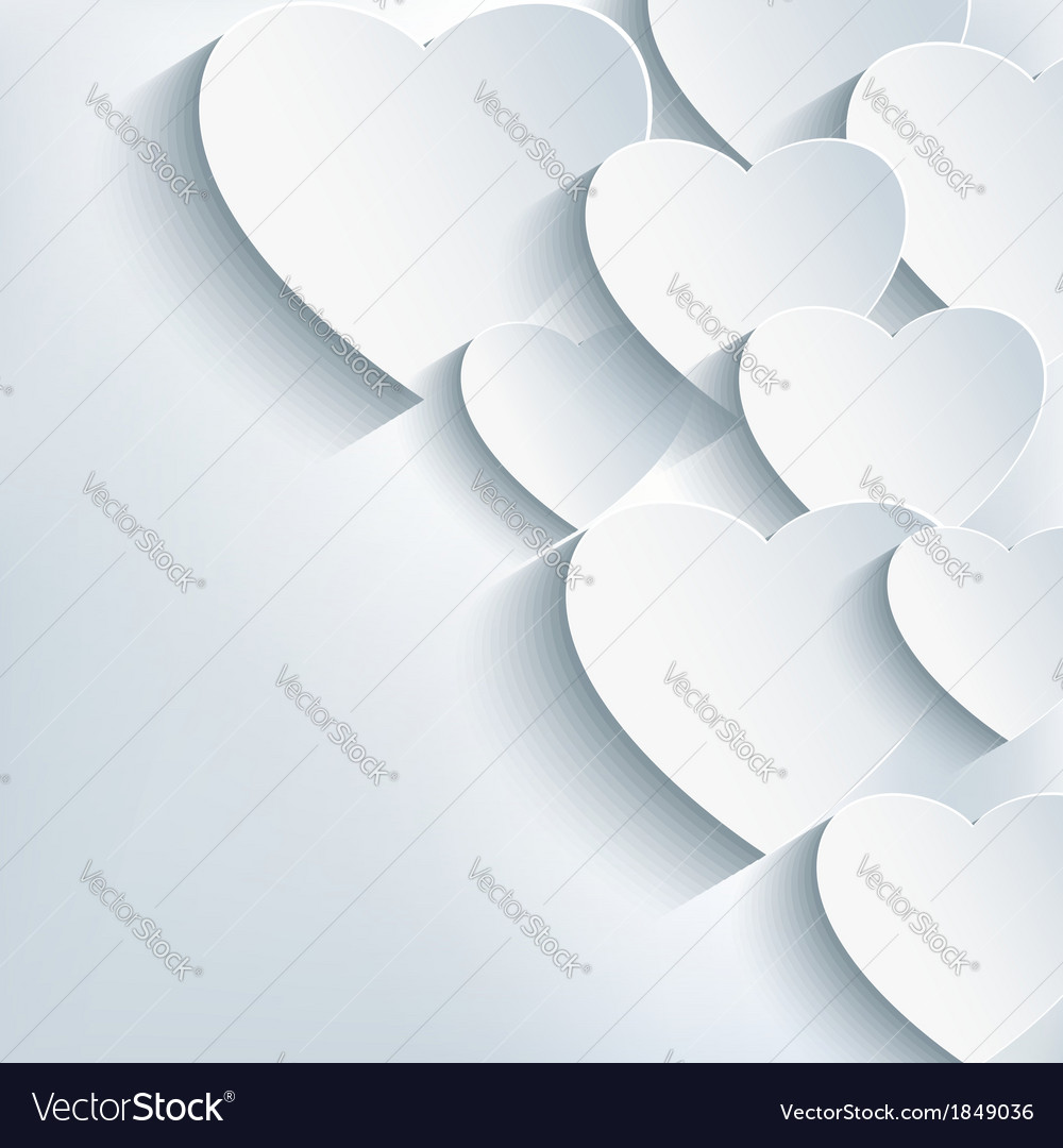 Stylish creative abstract background 3d heart vector | Price: 1 Credit (USD $1)