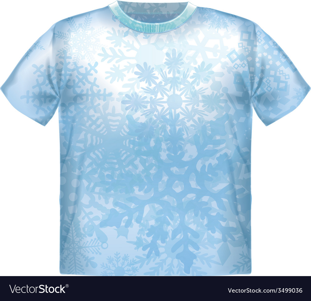 T-shirt snowflake isolated clothing white clothes vector | Price: 1 Credit (USD $1)