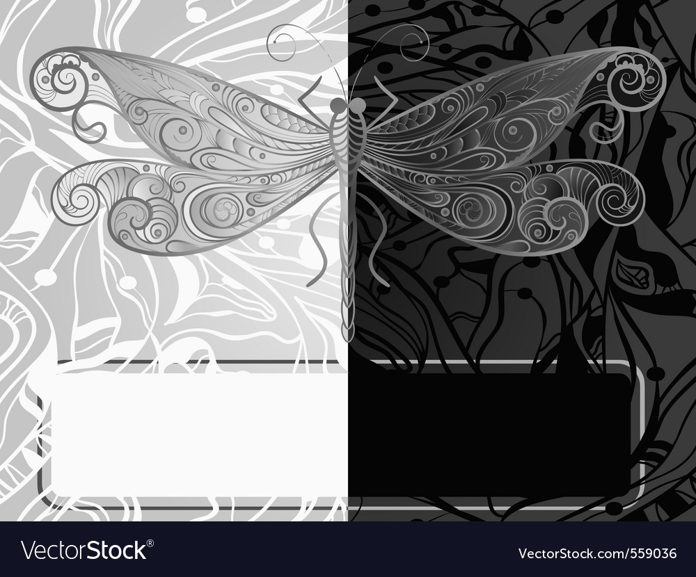 Vintage dragonfly style vector | Price: 1 Credit (USD $1)