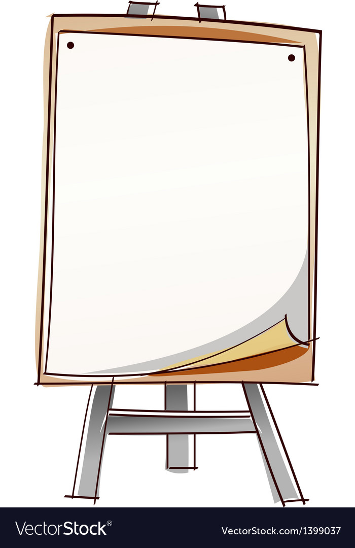 A easel vector | Price: 1 Credit (USD $1)