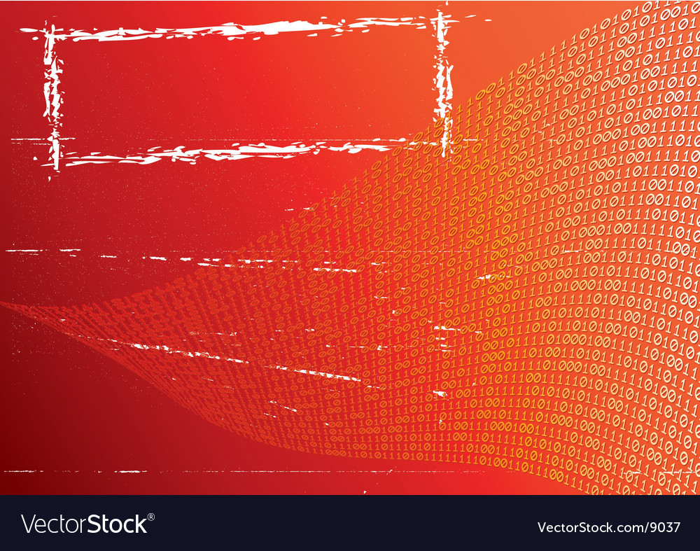 Abstract orange background label grunge vector | Price: 1 Credit (USD $1)