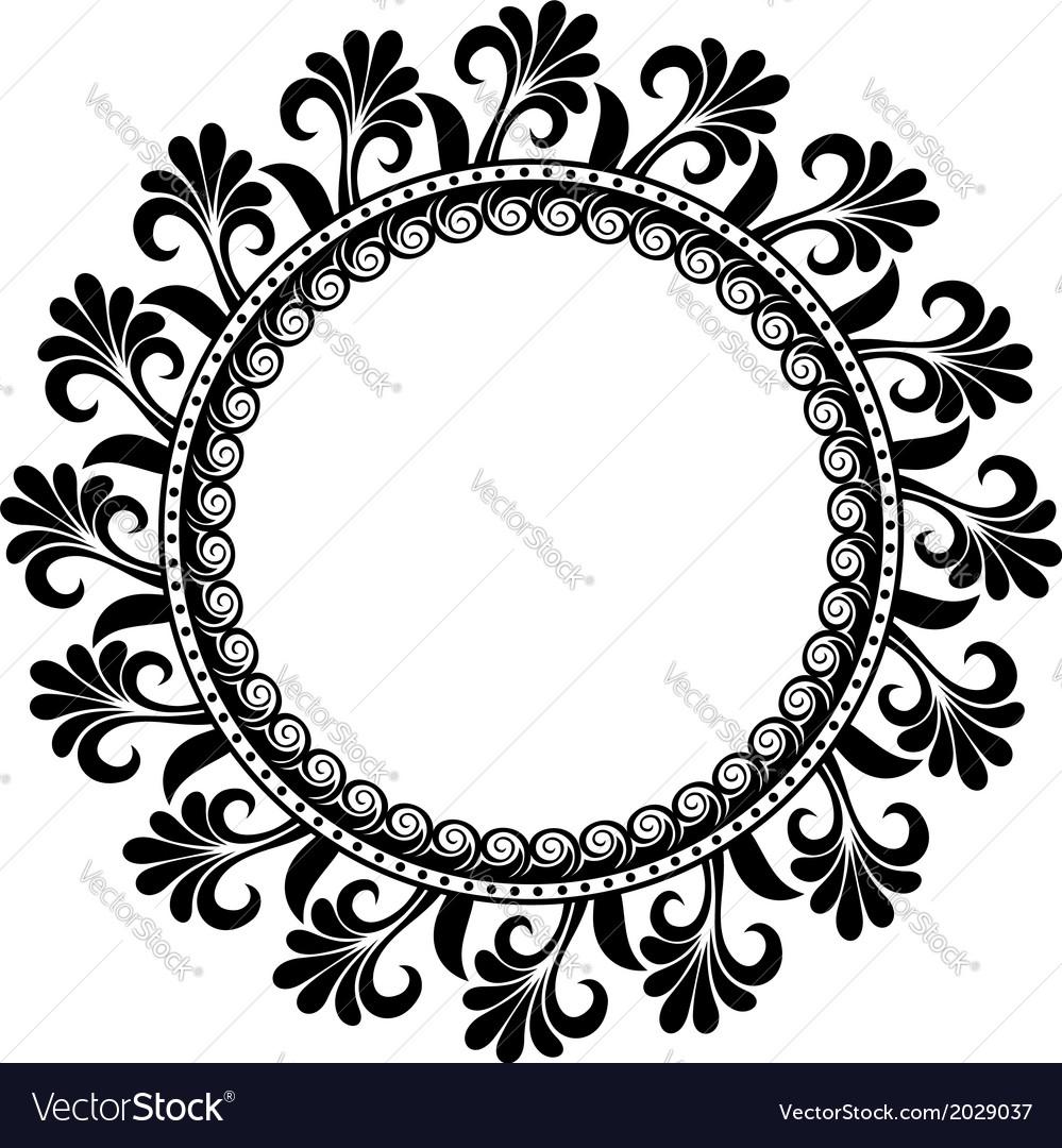 Beautiful deco floral circle vector | Price: 1 Credit (USD $1)