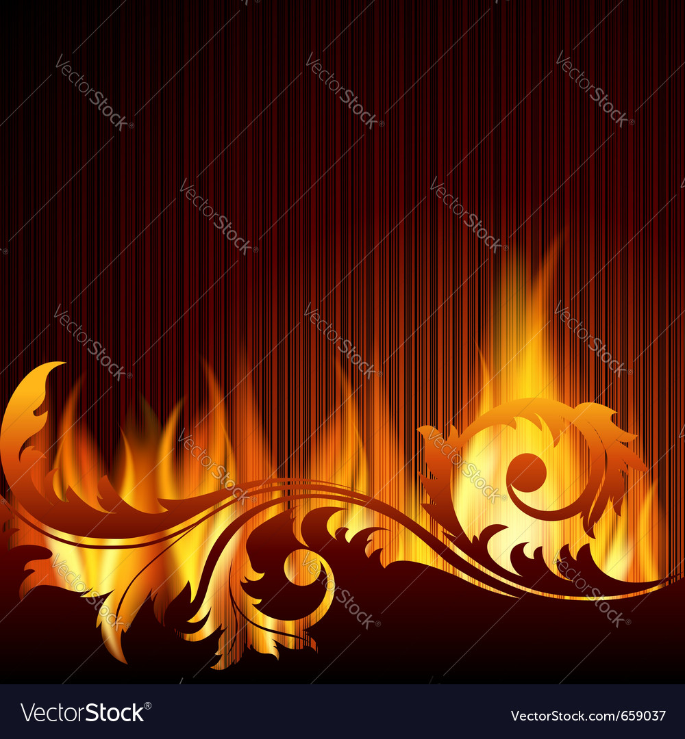 Black background with flames vector | Price: 1 Credit (USD $1)