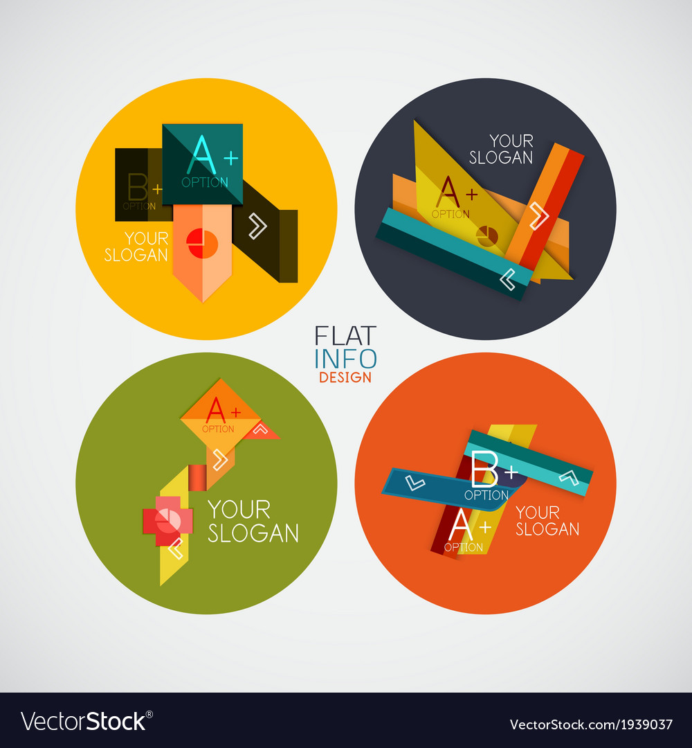 Flat infographic design concept set vector | Price: 1 Credit (USD $1)