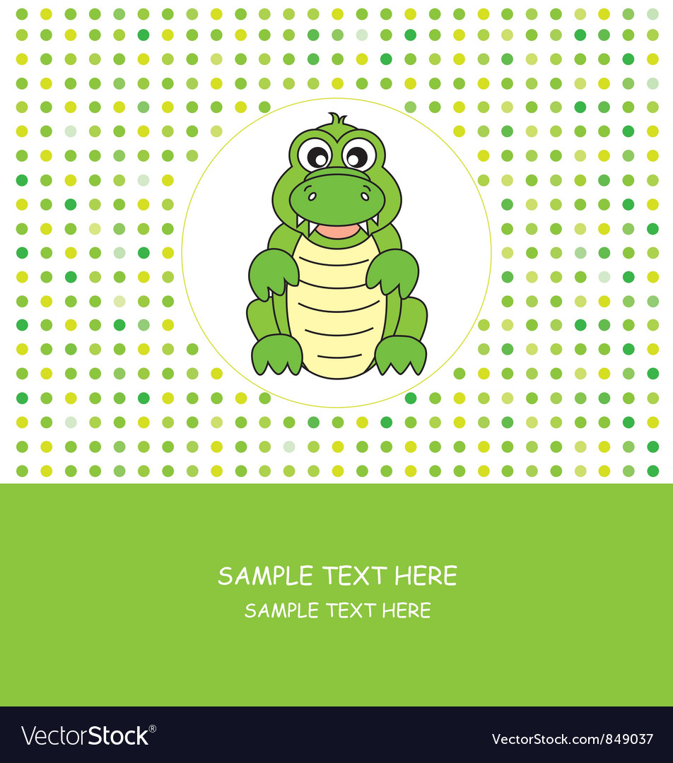 Fun card animal vector | Price: 1 Credit (USD $1)
