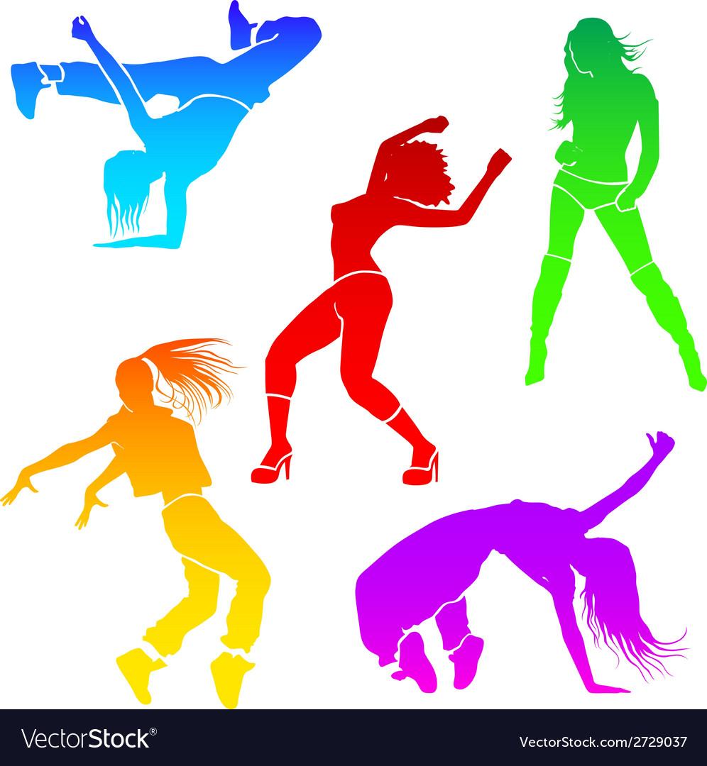 Girl dance vector | Price: 1 Credit (USD $1)