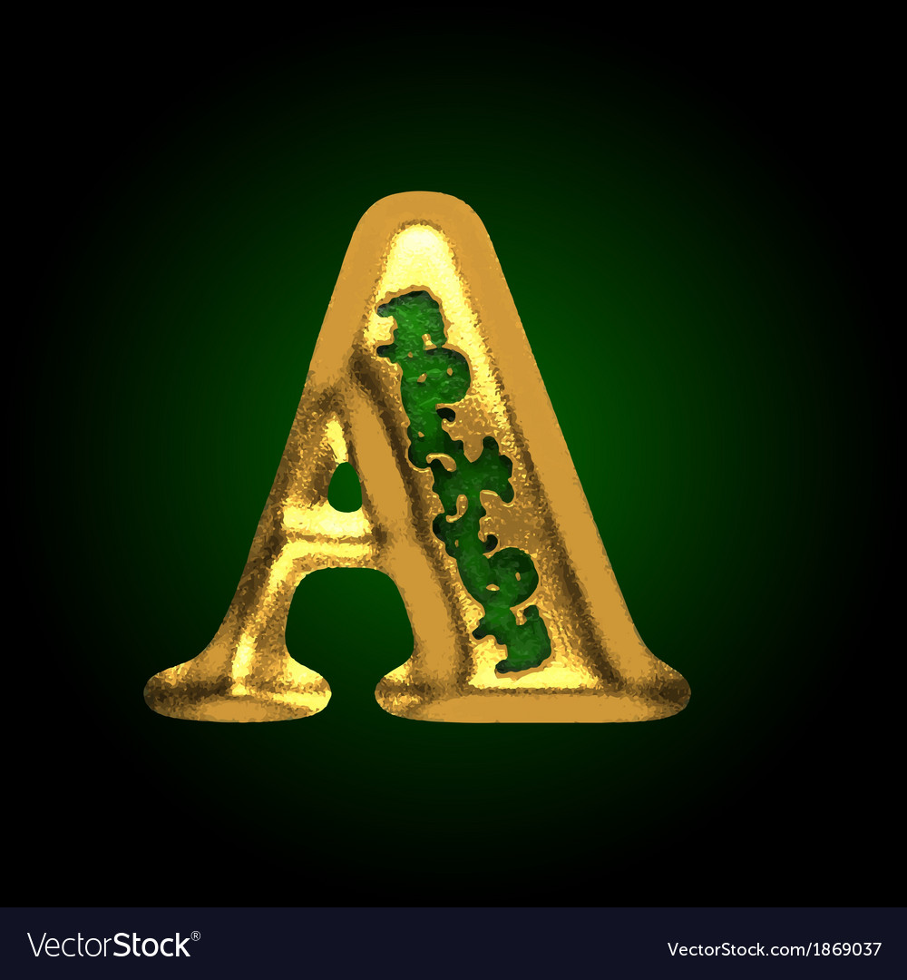 Golden letter a vector   Price: 1 Credit (USD $1)