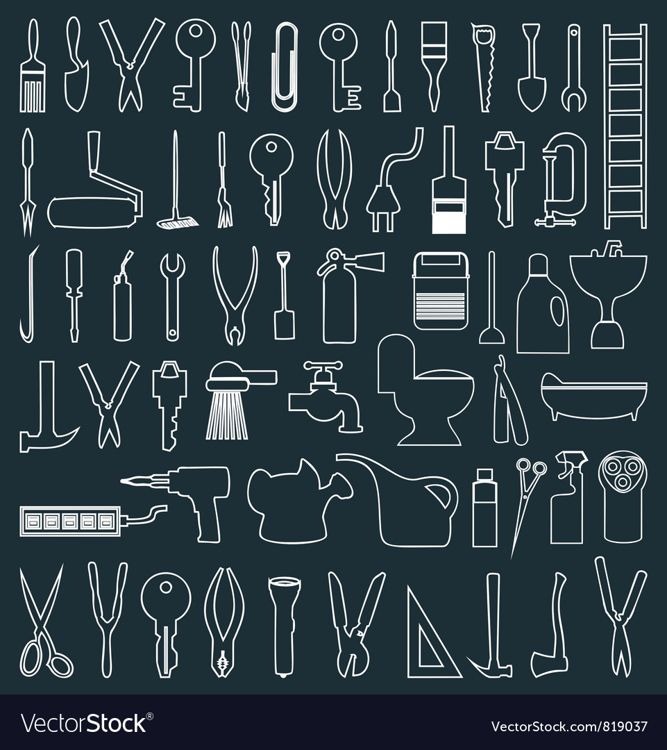Icons of tools vector | Price: 1 Credit (USD $1)