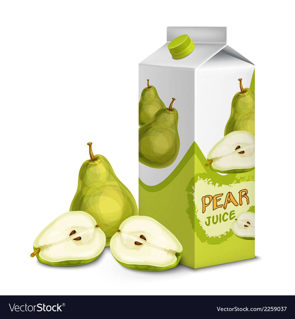 Juice pack pear vector | Price: 1 Credit (USD $1)