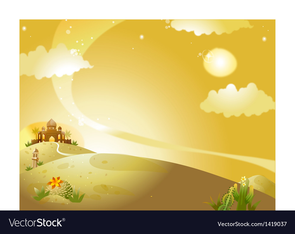 Palace landscape background vector | Price: 1 Credit (USD $1)