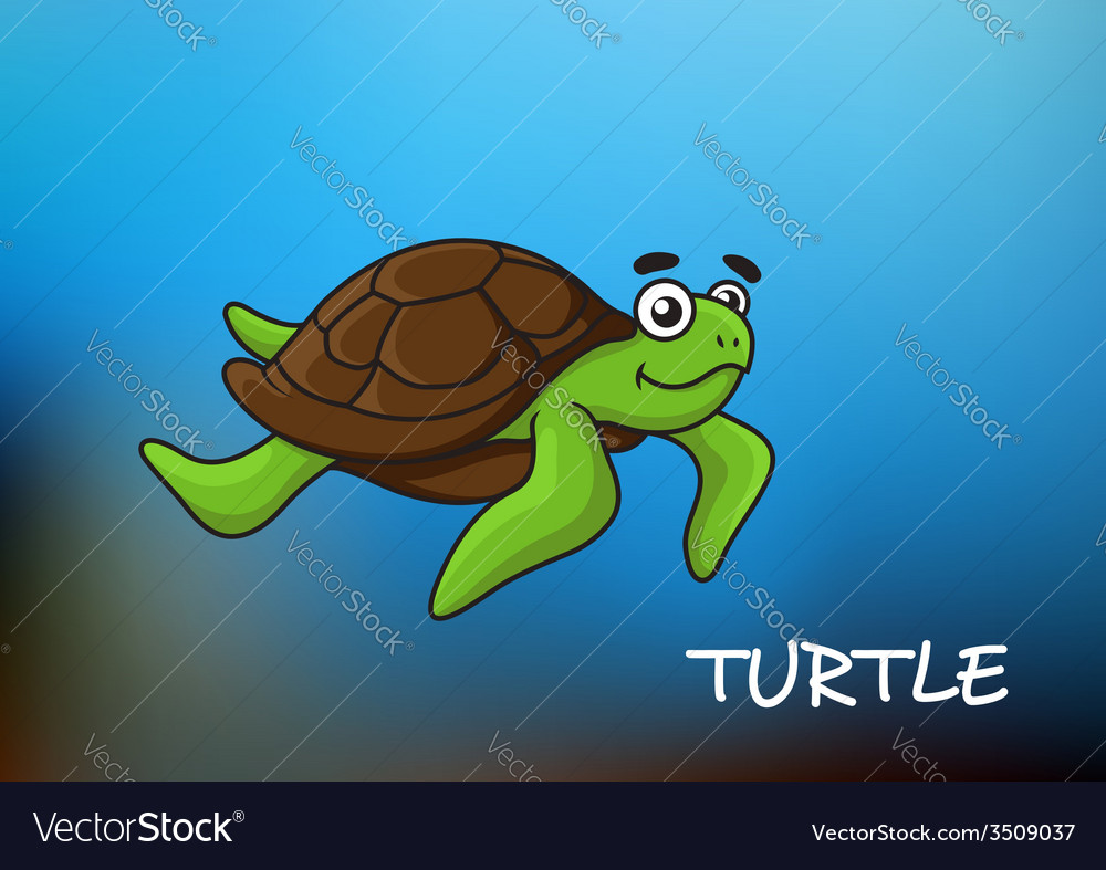 Sea turtle character vector | Price: 1 Credit (USD $1)