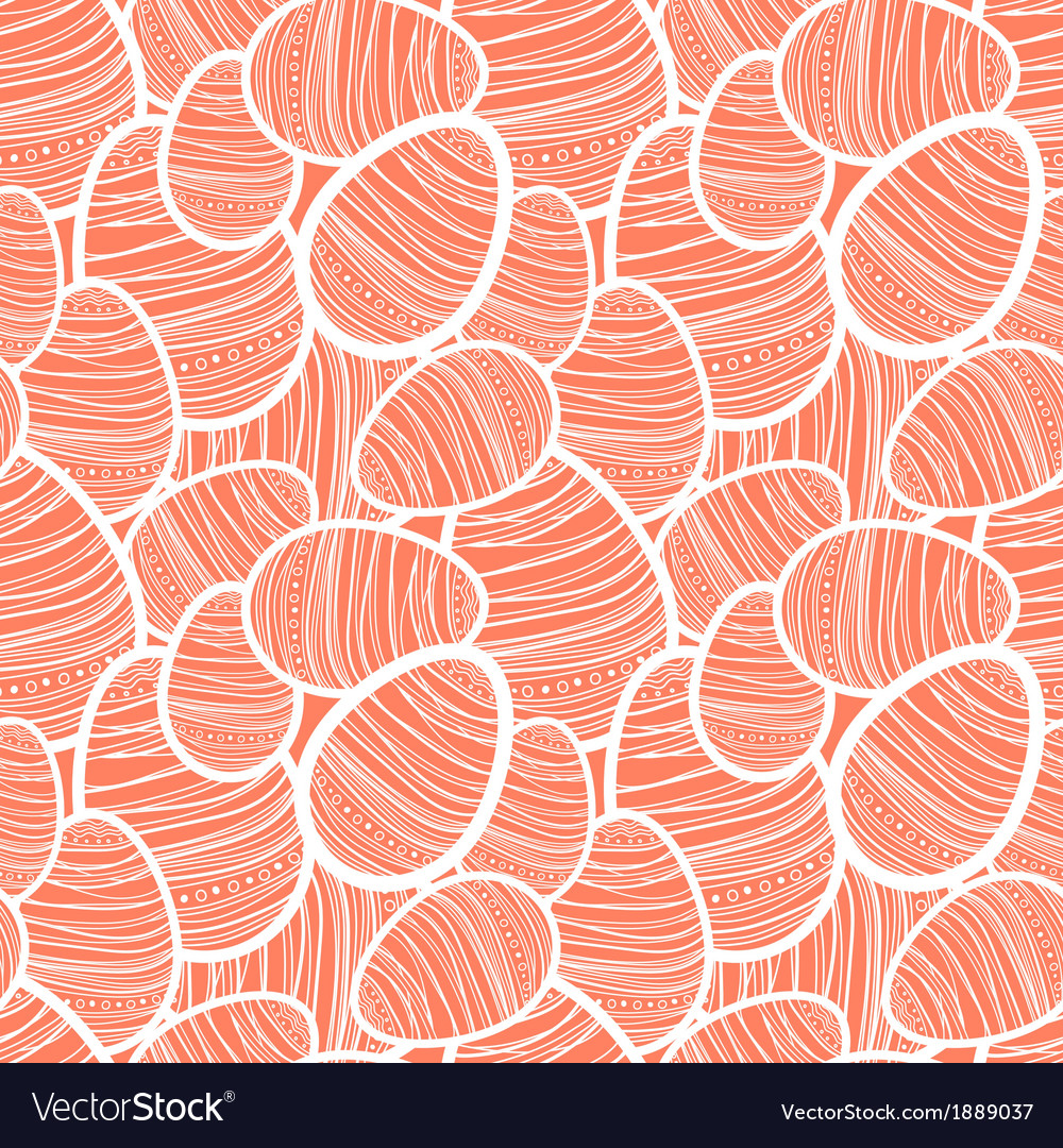 Seamless easter pattern with decorated eggs vector | Price: 1 Credit (USD $1)
