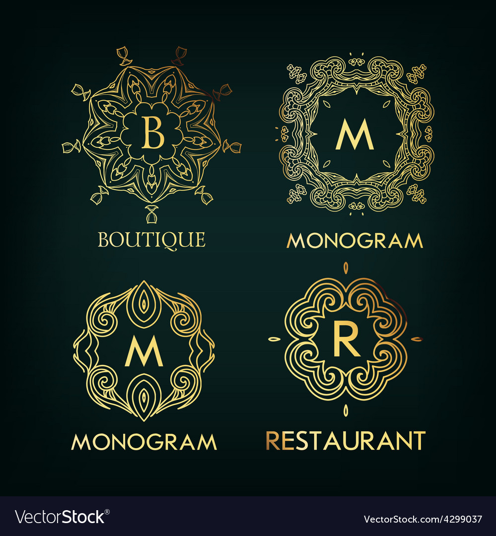 Set of luxury simple and elegant monogram vector | Price: 1 Credit (USD $1)