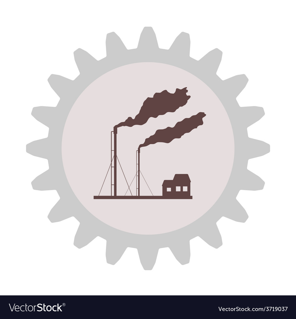 Silhouette of the gas plume in gear vector | Price: 1 Credit (USD $1)