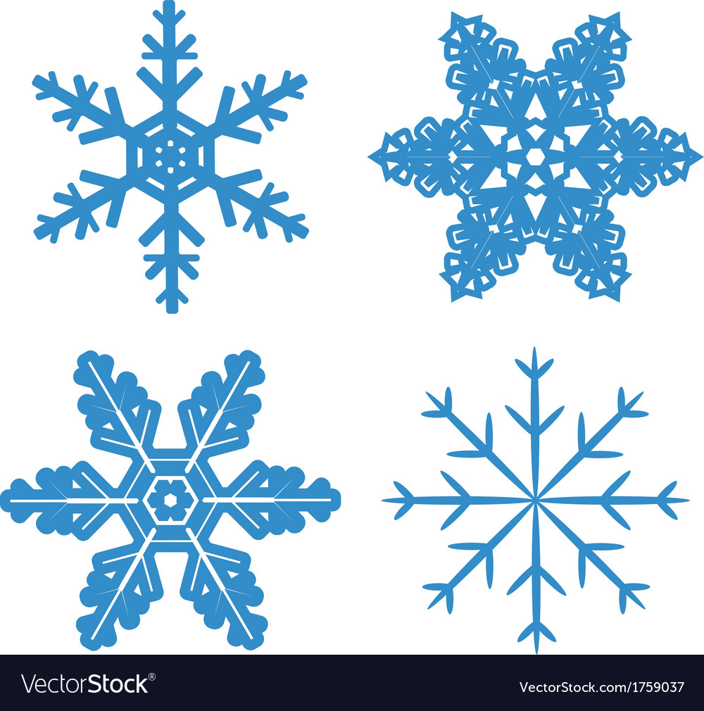 Snowflake set vector | Price: 1 Credit (USD $1)