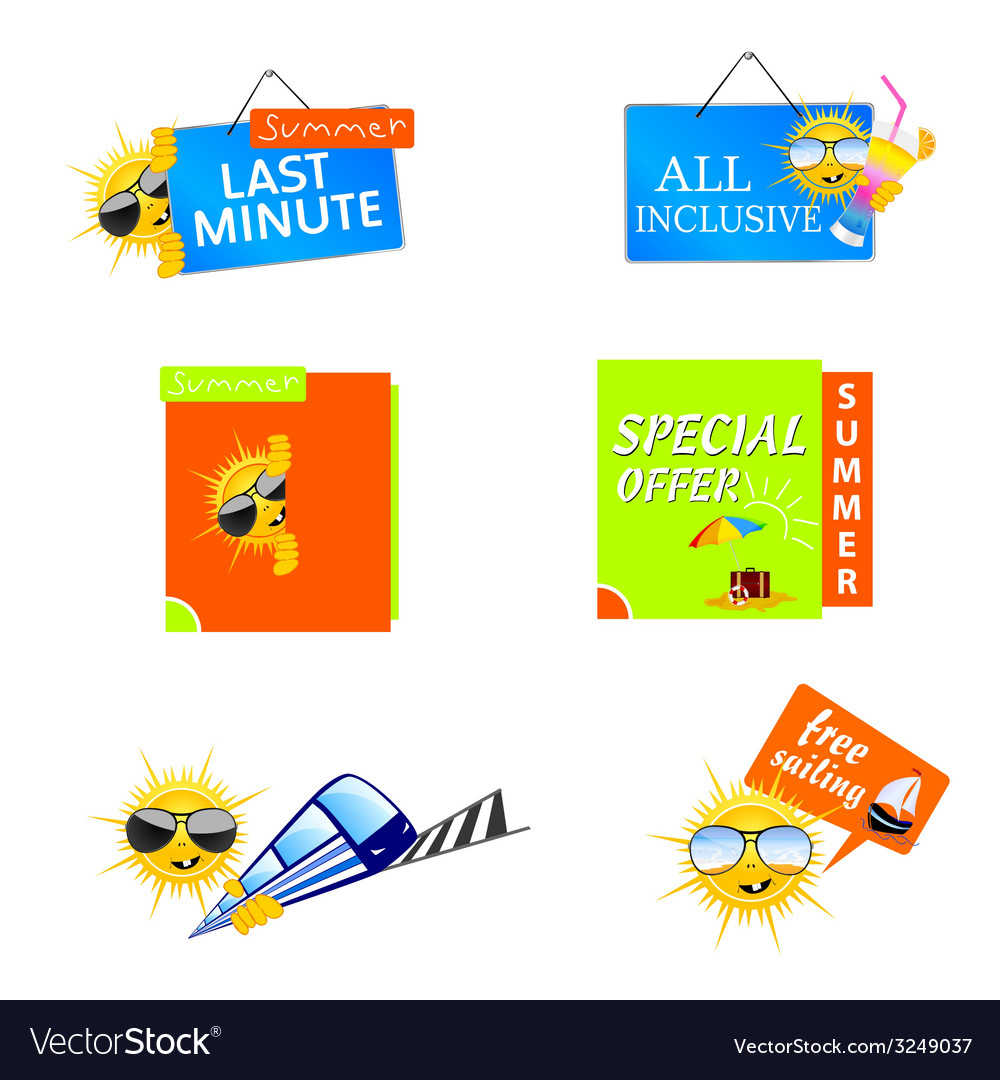 Summer travel icon vector | Price: 1 Credit (USD $1)