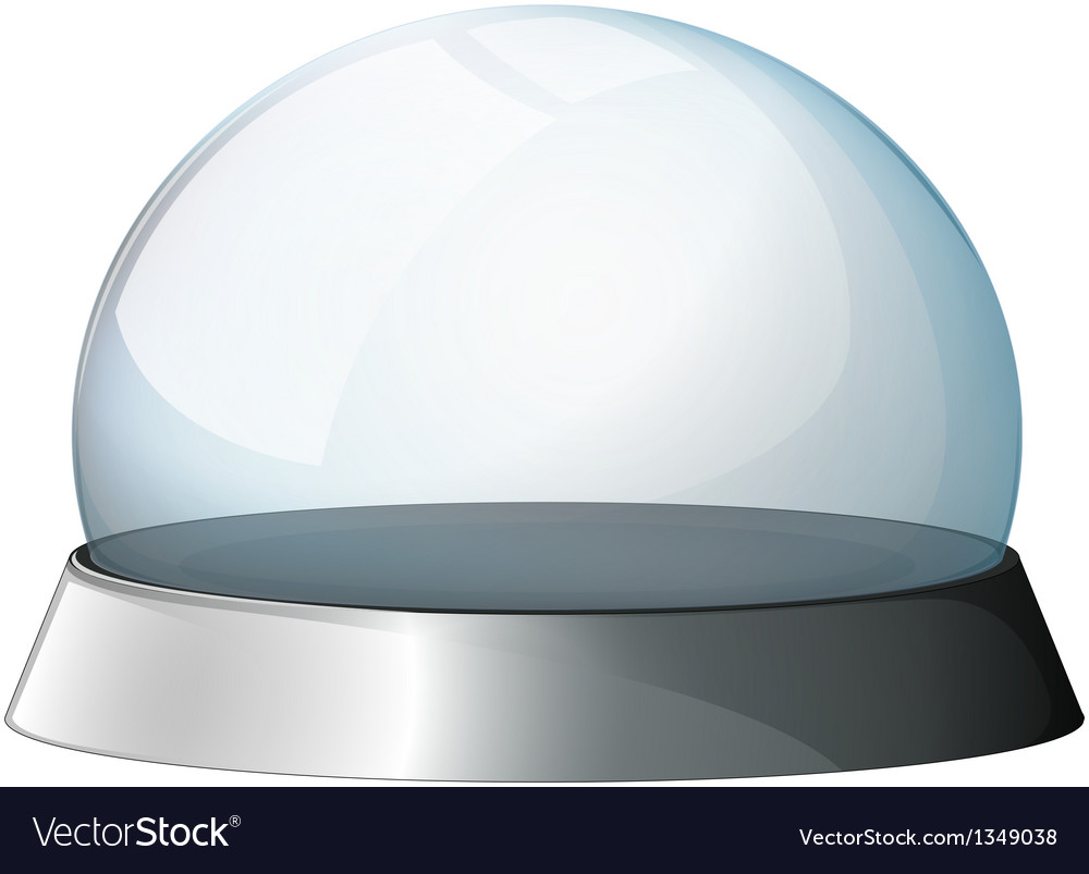 A circular dome with a silver holder vector | Price: 1 Credit (USD $1)