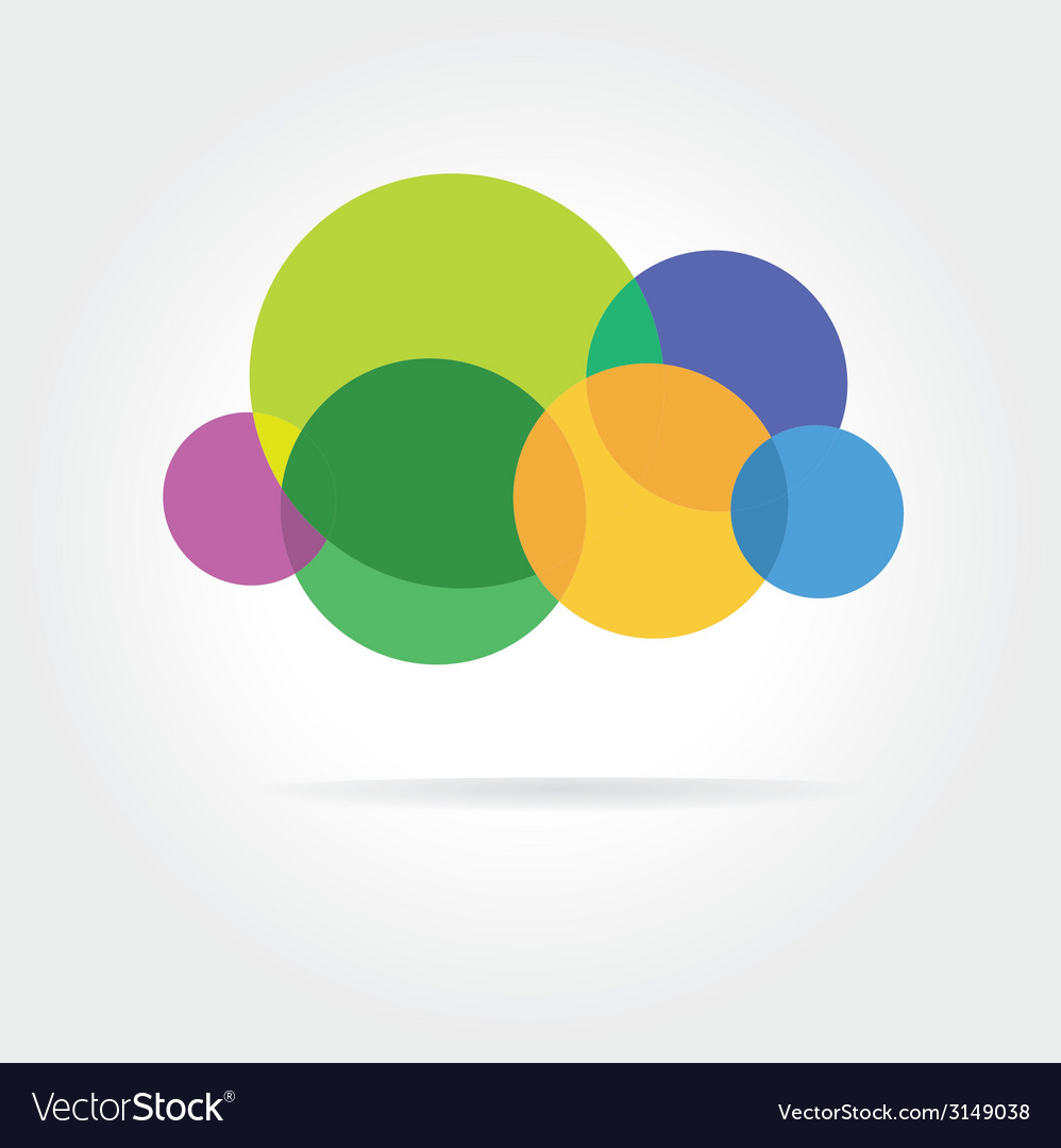 Abstract colored icon isolated on color background vector | Price: 1 Credit (USD $1)