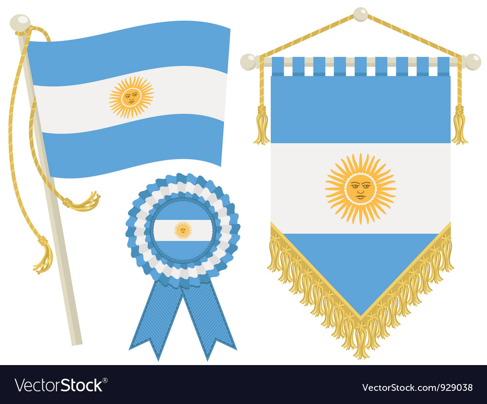 Argentina flags vector | Price: 1 Credit (USD $1)