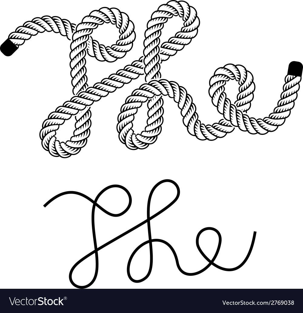 Black rope the vintage symbol vector | Price: 1 Credit (USD $1)