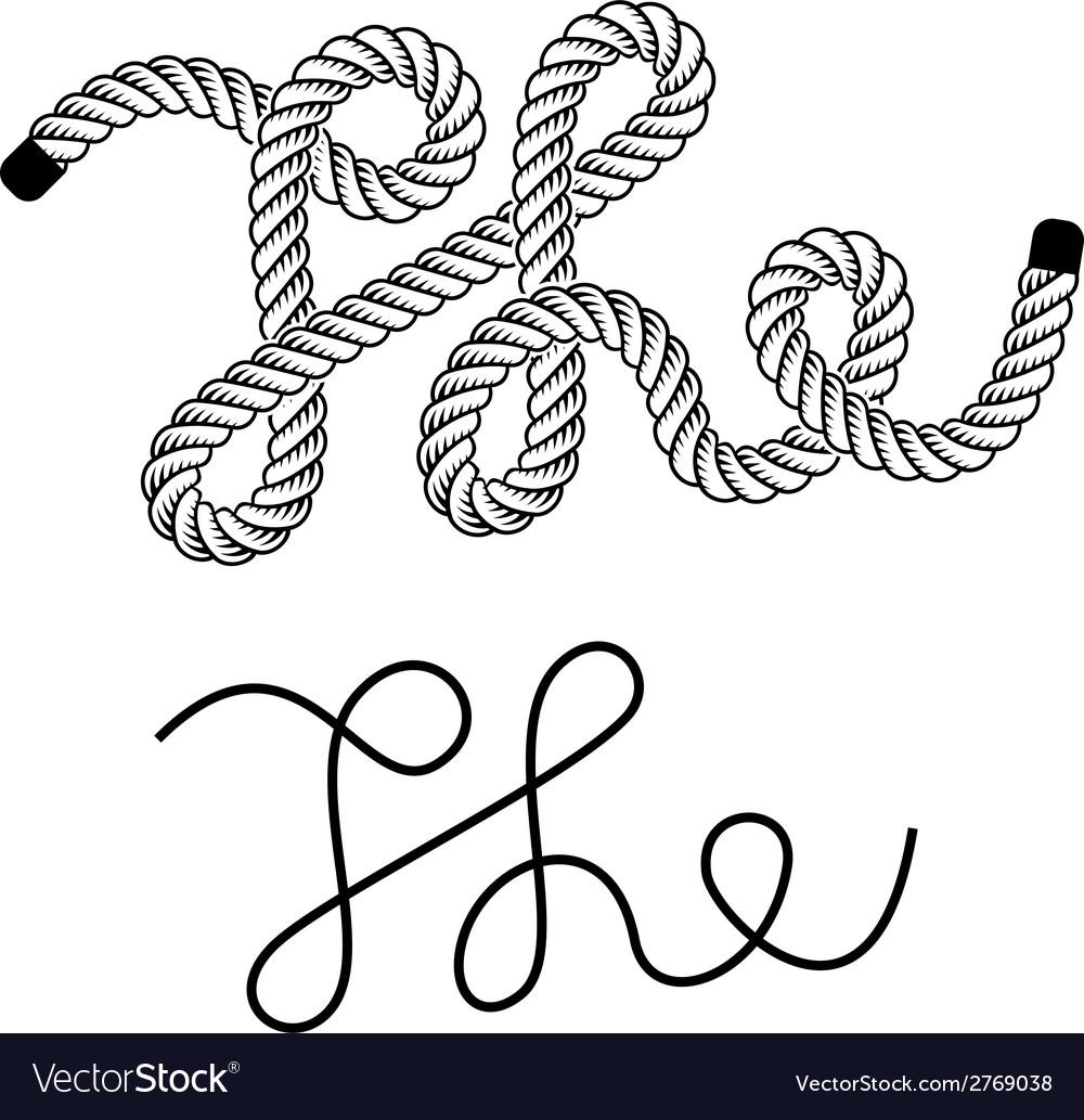 Black rope the vintage symbol vector | Price: 1 Credit (USD $1)