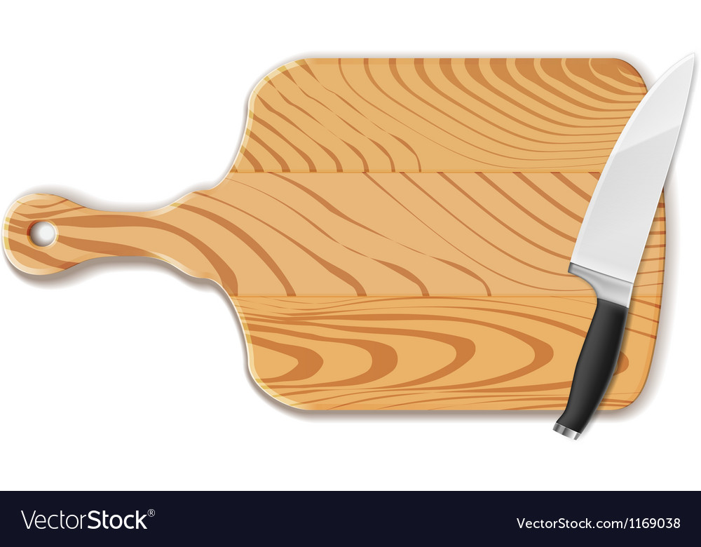 Chopping board and knife vector | Price: 3 Credit (USD $3)