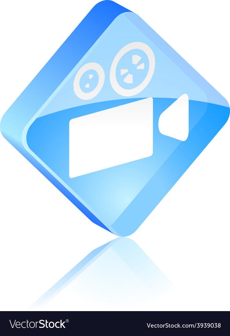 Cinema button vector | Price: 1 Credit (USD $1)