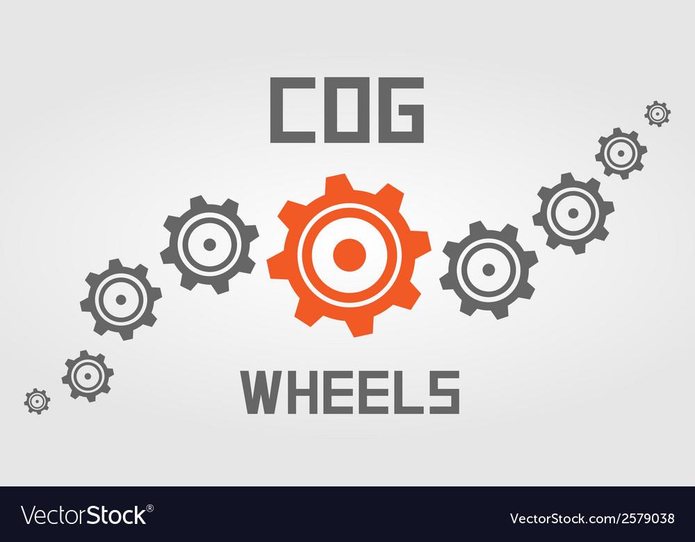 Cog wheels background vector | Price: 1 Credit (USD $1)