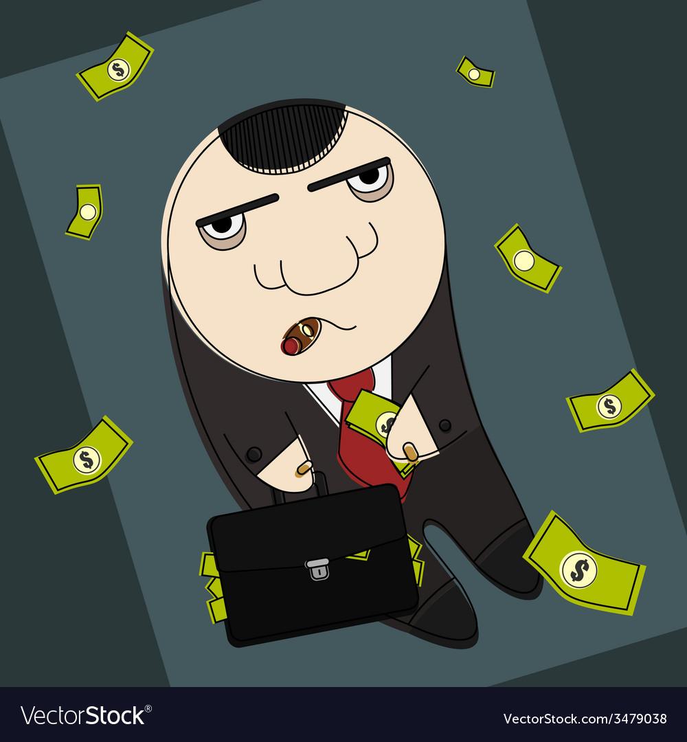 Corrupt politician vector | Price: 1 Credit (USD $1)