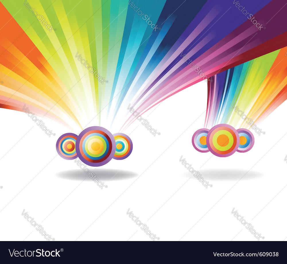 Falling rainbows vector   Price: 1 Credit (USD $1)