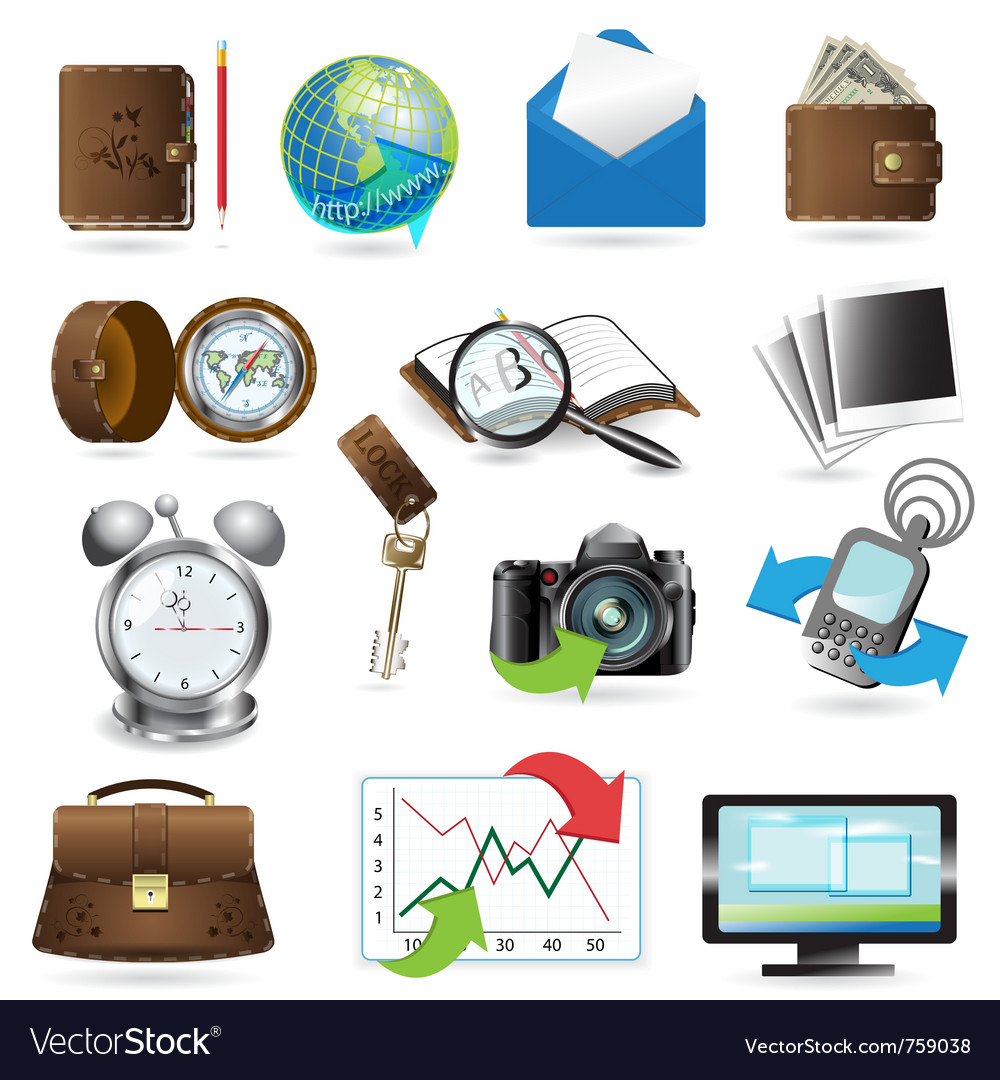 General icons vector | Price: 3 Credit (USD $3)