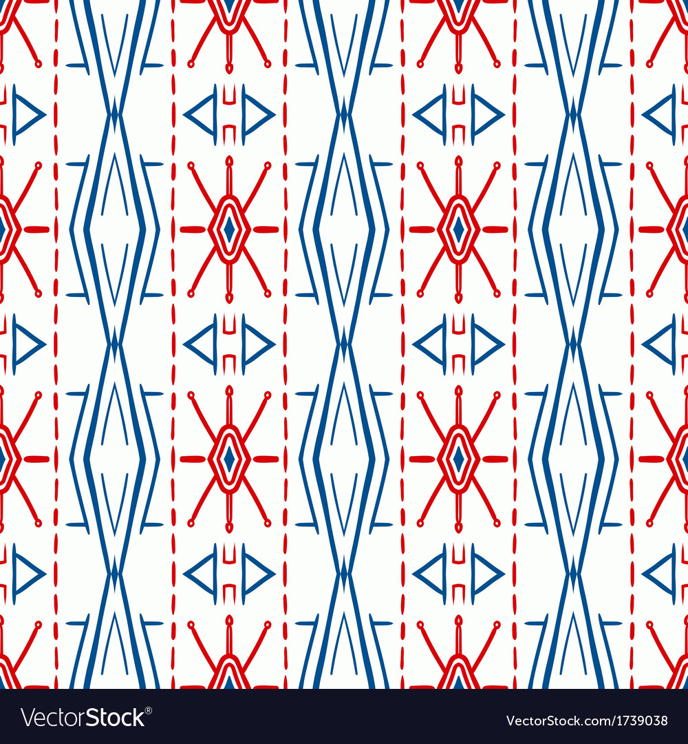 Geometric pattern with scandinavian ethnic motifs vector | Price: 1 Credit (USD $1)
